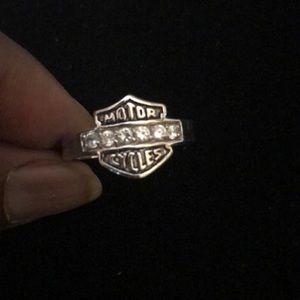 Harley Davidson silver ring size 12